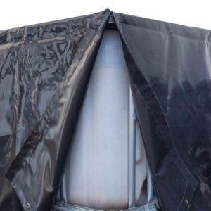 Wassertank Hülle in schwarz mit Klett zum verschließen